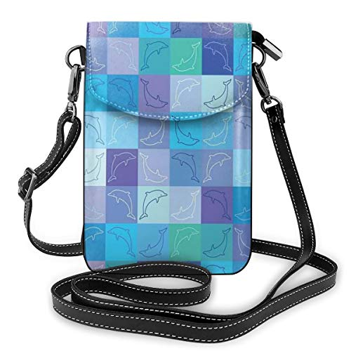 Jiger Women Small Cell Phone Purse Crossbody,Peace Sign Colorful Flowers Rainbows Love And Joy Festive Composition
