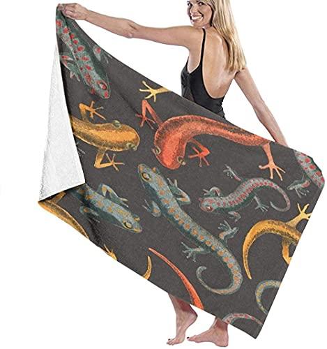 Toalla De Playa Microfibra,Reptil Lagarto Toalla De Baño Grande Toalla De Playa Ligera Viajes Familiares En Hoteles Natación Deportes De Fitness