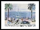 1art1 Raoul Dufy Poster Kunstdruck und MDF-Rahmen Schwarz -
