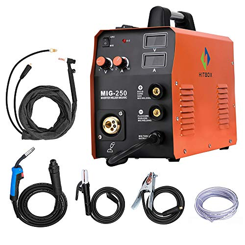 HITBOX MIG250 220V Inverter MIG ARC Lift TIG Gas Gasless Welding Machine