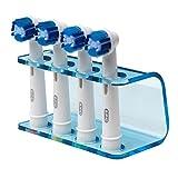 Soporte de cabezal de cepillo de dientes eléctrico de Seemii, para 2o 4cabezas de cepillo de dientes, acrílico azul transparente, encaja cepillos de dientes ORAL-B, plástico, natural, 4 Head Holder