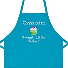 Personalized Girls Sweet Little Baker Child Apron with Cupcake Add a Name Embroidered (Long. 24