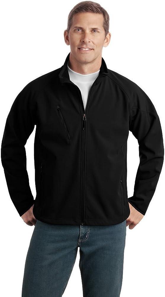 Port Authority Tall Textured Soft Shell Jacket, Stone