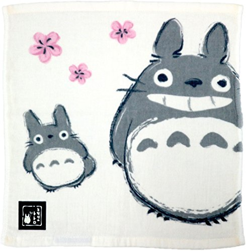 Marushin My Neighbor Totoro Imabari Serviette en gaze (brise printanière et Totoro) Fabriquée au Japon