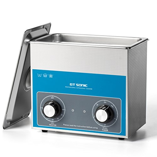 超音波洗浄機 小型 業務用 超音波洗浄器 加熱 超音波 クリーナー 3l 100w 40khz スタンレス 機械操作 超音波 洗浄機 (3L 1730QT)