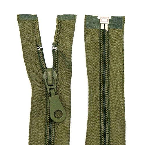 Starlet24 Cremallera de nailon de 6 mm divisible para chaquetas y bolsos de 70 cm, color verde oliva