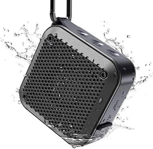 Bluetooth Mini Lautsprecher 5.0 Wasserdicht IPX7 Musikbox, 5W Dual-Treiber, 360° TWS Stereo Sound, Tragbarer Lautsprecher 12-Stunden Spielzeit, mit AUX, unterstützt SD-Karte, TF-Karte(No FM Radio)