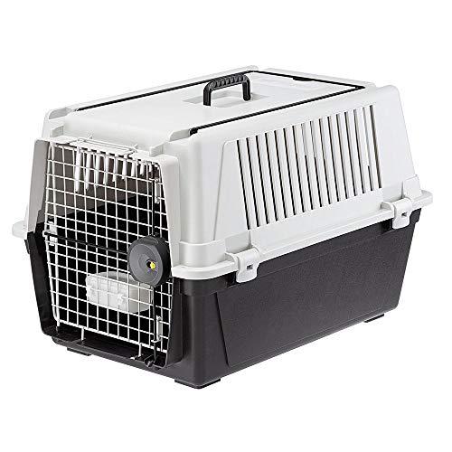 Ferplast 73011021 Transportbox für Hunde, Maße: 68 x 49 x 45,5 cm, grau