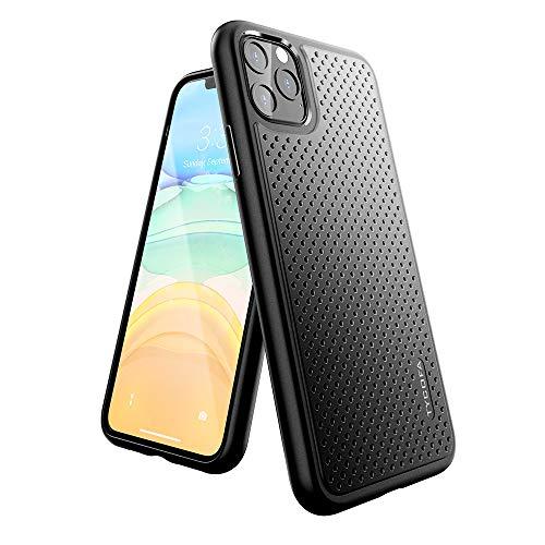 Tycofa - Carcasa para iPhone 11 Pro (ultrafina, sin amarilleamiento, protección completa), color negro