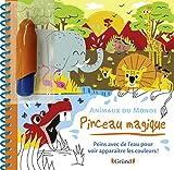 Pinceau magique - Animaux du Monde – Livre Coloriage magique à l'eau avec un pinceau – À partir de 3 ans