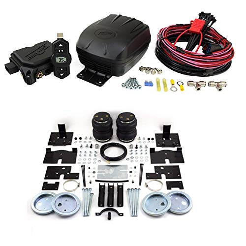 Air Lift 25980 57200 Set of Wireless One Single Path On-Board Air Compressor System with Rear Load Lifter 5000 Kit for 04-14 Ford F-150 Pickup 4WD