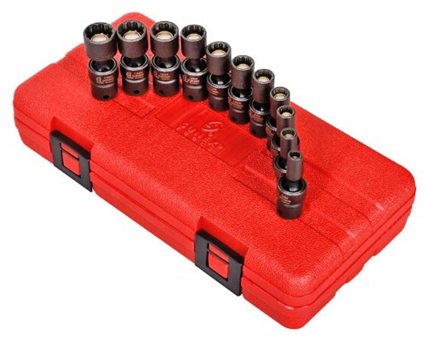 Sunex 1825 1/4-Inch Drive Universal Magnetic Impact Socket Set, Metric, 12-Point, Cr-Mo, 5mm - 15mm, 11-Piece