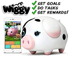 Wiggy is a fun, interactive Piggy Bank that motivates kids to accomplish household tasks, and helps them LEARN TO EARN the things they want! Wiggy makes chores fun for kids and teaches good life habits! Allow your kids to track their tasks and progre...