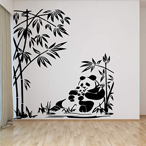 Lamubh Panda patrón Pegatinas de Pared para niños Accesorios de decoración de la habitación calcomanías de Vinilo decoración del Dormitorio Animal Mural Wallpaper 128x178cm