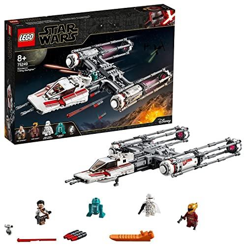 LEGO 75249 Star Wars Caza Estelar ala-Y de la Resistencia, Juguete de Construcción para niños a Partir de 8 años con Mini Figuras