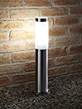 Auraglow IP44 Stainless Steel Outdoor Garden Path Post Light - 5w Cool White LED Light Bulb Included