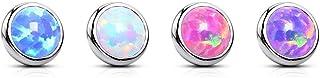 Paula & Fritz® - Piercing per ombelico con opale, in acciaio chirurgico 316L, disponibile in diversi colori