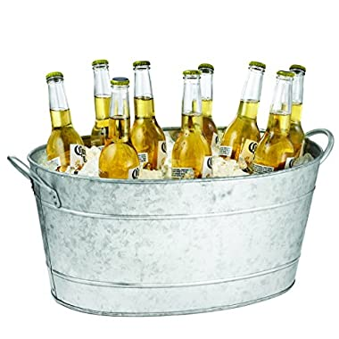 TableCraft Galvanized Beverage Tub, 5.5 Gallon