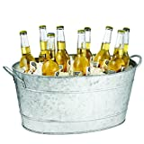 Tablecraft Galvanized Oval Beverage Tub,...