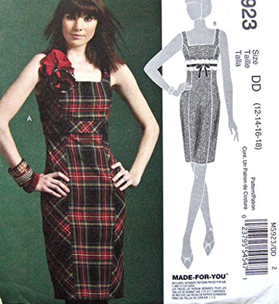 McCall Pattern Company M5923 Misses' Dress Sewing Template, Size AX5 (4-6-8-10-12)