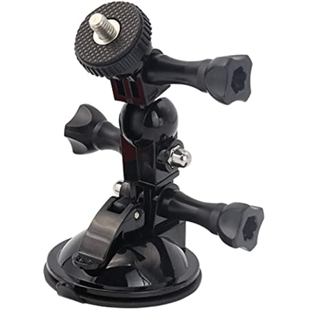 EXSHOW 調節可能な吸盤マウント スイベルアームマウント付き カメラとアクションカメラ Hero, MUSON(ムソン), AKASO, Crosstour, Apexcam, Insta360, Victure, apeman, COOAU用