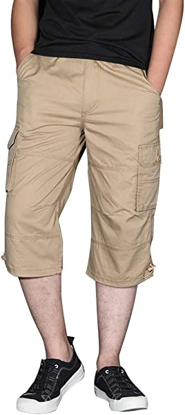 Men S Cargo Shorts Male Summer Casual Solid Short Trouser Straight Fit Baggy Comfortable Shorts