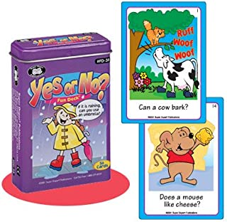 Super Duper Publications Yes or No? Fun Deck Flash Cards Educational Learning Resource for Children