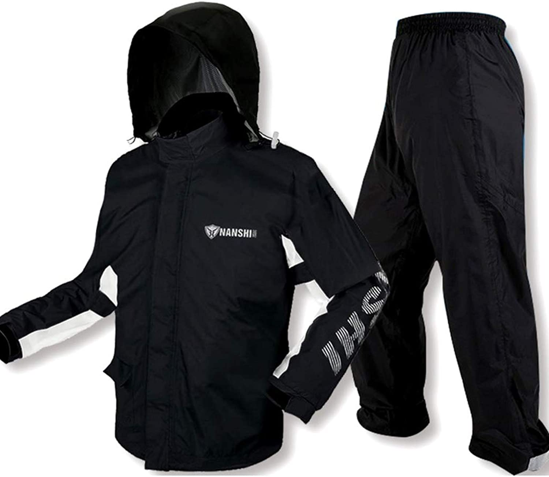 YXF-Regenjacken Wasserdichte Sportbekleidung für Damen Motorrad-Regenbekleidung Split-Regenbekleidung für Erwachsene Windbreaker-Hosenanzug für Herren zum Im Freien Reisen Laufen