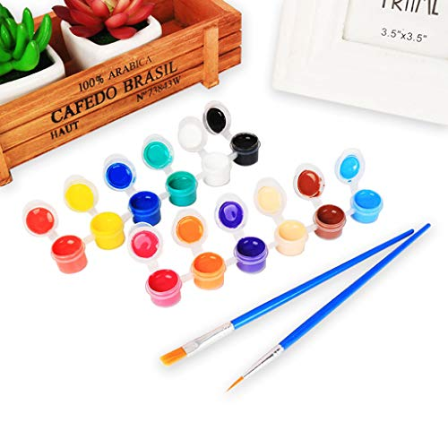 qingqingR 2ml 12 Lebendige Farben Waschbare Gouachefarbe für Kinder Schule Fingerfarbe