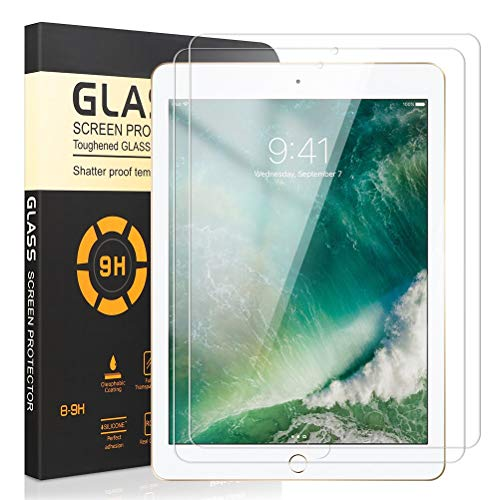 Yoedge Screen Protector for Apple New iPad 10.2 2019/Air 2019/Pro 2 10.5, 2-Pack Clear Anti-Scratch Anti-Glare Anti-Fingerprint Shatterproof Bubble Free Tempered Glass Film for Apple iPad Air 2019