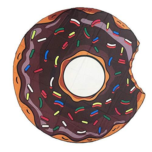 123 Life Manta De Playa De Hamburguesa De Pizza De Donut De Chocolate, Manta De Toalla De Playa De Microfibra, Adecuada para Playas, Piscinas, Lagos Y Otros Lugares, Lavable A Máquina (3)