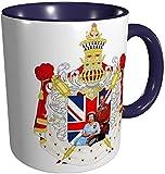 Taza de la Reina Elizabeth II y el Príncipe Felipe Reino Unido, azul marino