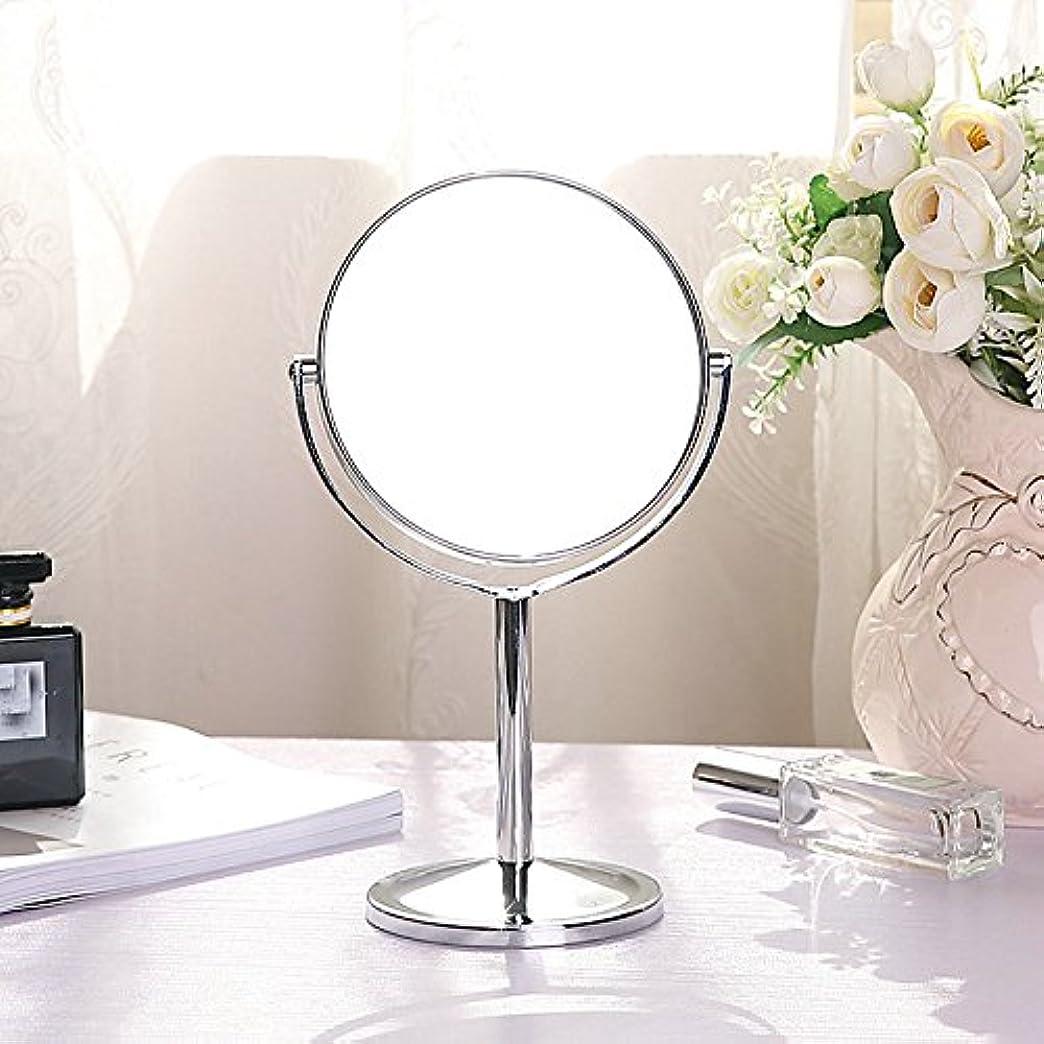 口頭お別れ酸素化粧鏡 卓上 メイク 拡大鏡付き 3倍 女優ミラー スタンド 両面鏡 360度回転
