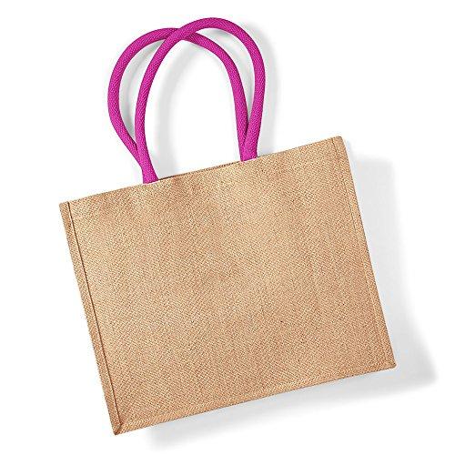 Westford Mill , Damen Tote-Tasche Elfenbein Naturfarben / fuchsienfarbig