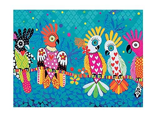 Maxwell & Williams - Strofinaccio con stampa a cuori, 100% cotone, colore: turchese, 50 x 70 cm