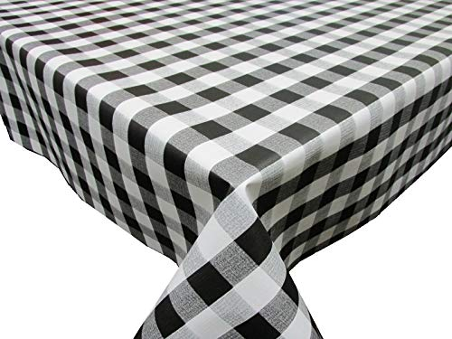 Confección Saymi Mantel de Hule PVC Estampado Ref. Picnic Color Negro, Medida 140x100