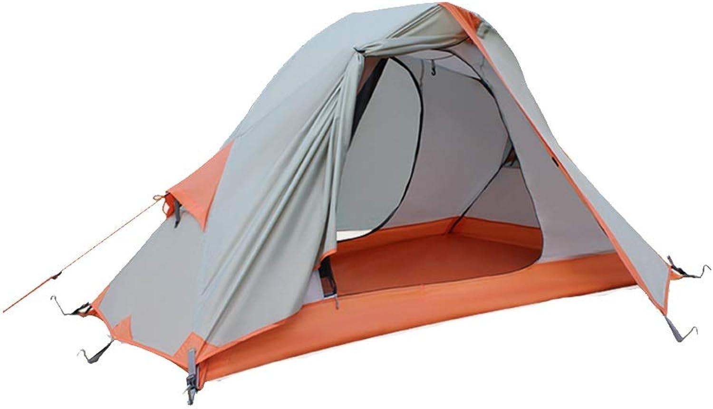 Fulitanghuang Outdoor-Zelt Einzel-Doppel-Aluminium-Pole-Camping Anti-Sturm-Regen-Camping Saison-Reitausrüstung Zelt