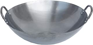 LXYZ Pots de Cuisson, Wok Poêle à Frire Earth Wok, avec Deux poignées en Fonte antiadhésive Non revêtue Wok à la Maison en...