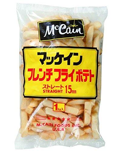 マッケイン 15mmストレートカットポテト1kg 冷凍  (3袋)