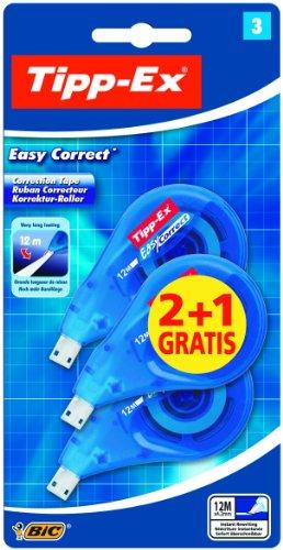 Tipp-Ex Easy Correct - Nastro correttore, ultra lungo, 3 pezzi