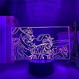 Lámpara 3D Anime Lámpara 3DNiños One Pieza GOL D Roger Luz de noche LEDDecoración de dormitorio para niños Anime japonés Lámpara 3D One Pieza Roger