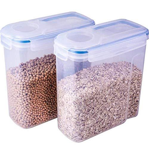 Cocina Hermético Conservación Alimentos Contenedores,4L Cereales Contenedores,Dispensador Cereales,Plástico Snacks Azúcar Almacenaje Papeleras Organizador,Pantry Ahorro de Espacio Botes Botes,Nueces