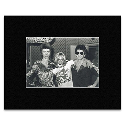 Stick It On Your Wall David Bowie – mit Lou Reed und Iggy Pop Dorchester Hotel London 1972 Mini Poster – 25,4 x 30.3 cm
