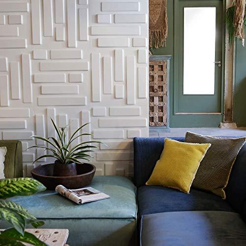 Revestimiento De Paredes 3D Bricks 3m² | 12 Paneles Decorativos 3d de 50x50cm | Paneles Decorativos Para Pared WallArt, Papel Pintado 3d | Friso Para Pared, Paneles Acusticos, Panel De Pared
