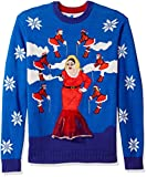 Blizzard Bay Men's Ugly Christmas Sweater Divine, Blue, Large