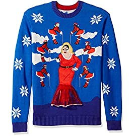 Blizzard Bay Men's Ugly Christmas Sweater Divine 9 Festive and humorous patterns just right for the season Made with a soft knit for a comfortable and easy fit