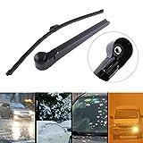 Essuie-glace de voiture, bras et lame d'essuie-glace de pare-brise de voiture de fenêtre arrière ABS adaptés pour Touran 2003-2009, MK5 2004-2008 (noir)