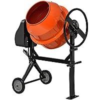 in.tec Hormigonera eléctrica(140 litros 2800 U/Min 550W) mezclador de cemento mortero naranja