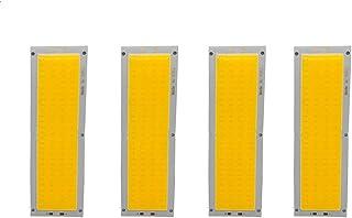 Comidox 4pcs 12V 10W 1000LM LED Panel Strip Light COB Chip Light Lamp Car Light Source DIY Spotlight Floor Lighting 120X36...