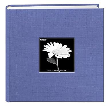 Fabric Frame Cover Photo Album 200 Pockets Hold 4x6 Photos, Sky Blue